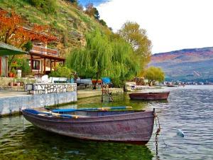 Lake Ohrid in Ohrid, Macedonia. Photo by Wake and Wander.