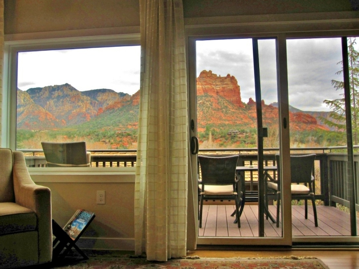 View from my Vista Suite at L'Auberge Sedona. Photo by Wake and Wander.
