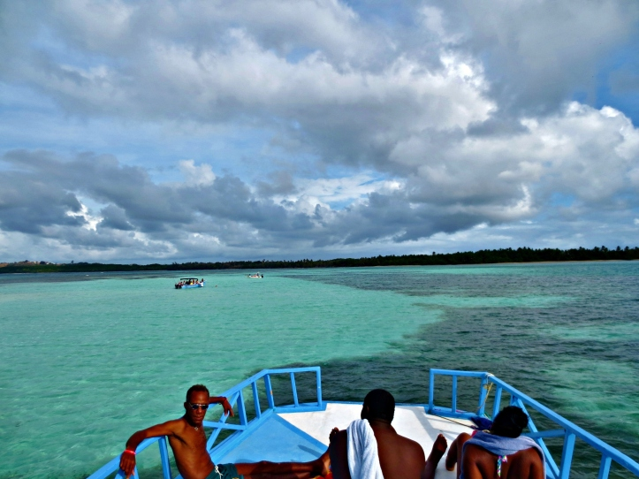 Arriving at Nylon Pool off the coast of Tobago. Photo by Wake and Wander.