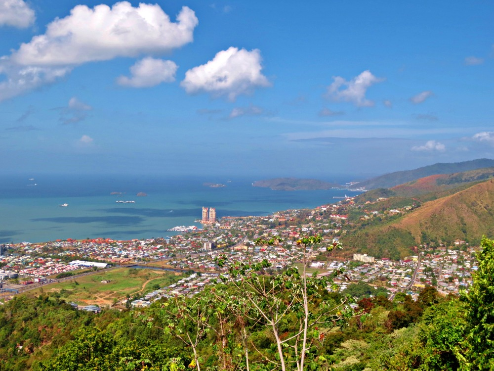 View of the Port of Spain coastline in Trinidad. Photo by Wake and Wander.