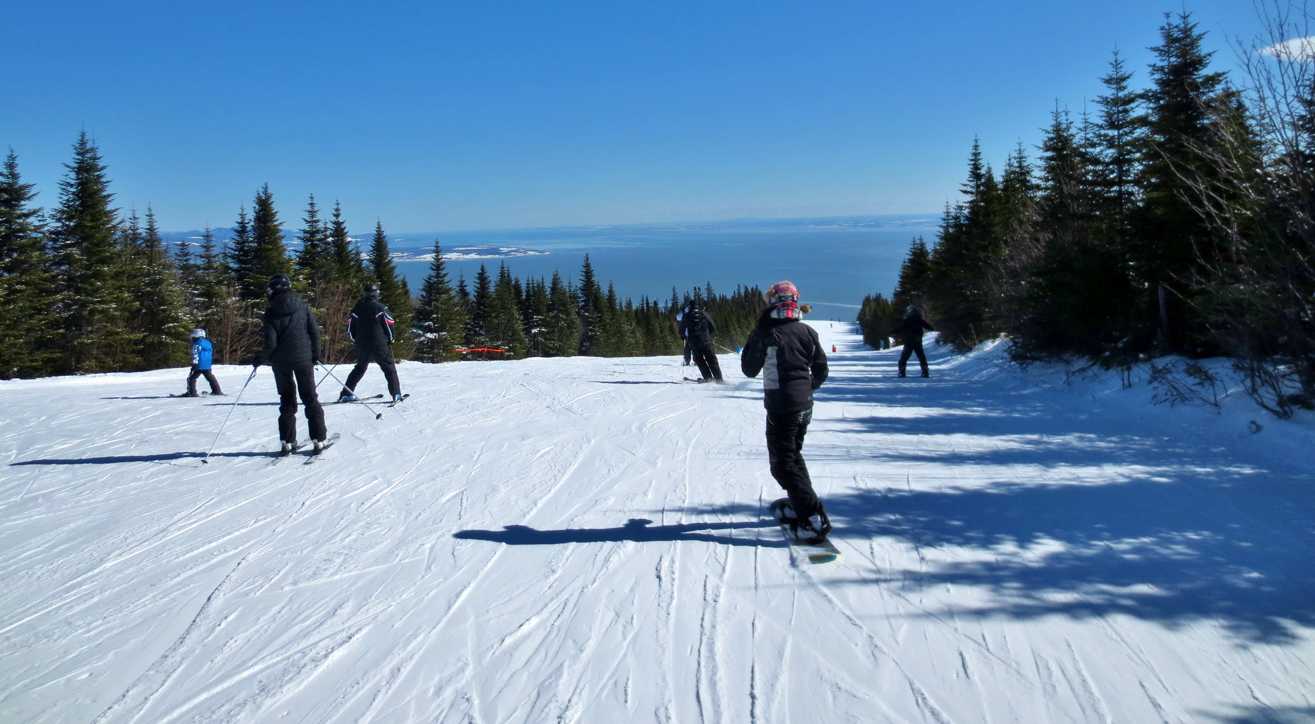 quebec city skiing: where the river narrows at le massif – wake and