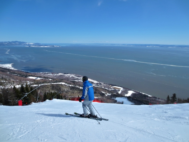 View from the slopes of Le Massif in Quebec City. Photo by Wake and Wander.