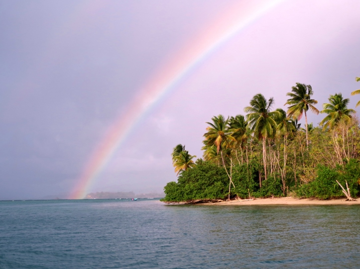Rainbow over the island of Tobago. Photo by Wake and Wander.