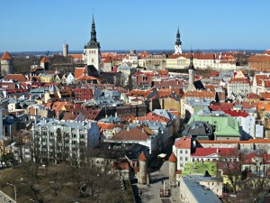 View from the Sokos Viru Hotel outside of Old Town Tallinn in Estonia. Photo by Wake and Wander.