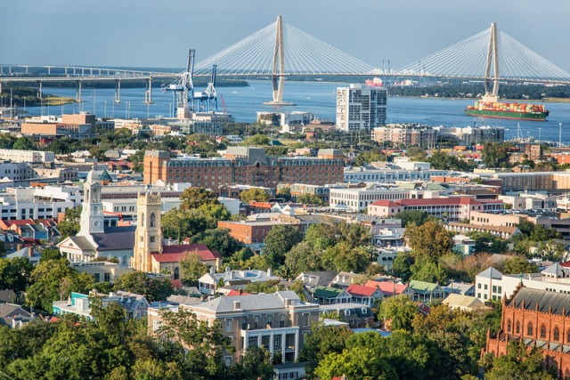 Aerial view of Charleston, South Carolina. Photo credit vanessak.com.