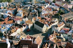 Town Hall Square in Old Town Tallin.