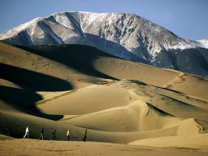 The Great Sand Dunes in Southern Colorado.