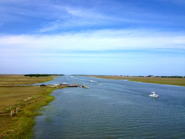 Intracoastal waterway in Charleston, South Carolina. Photo By Wake and Wander.