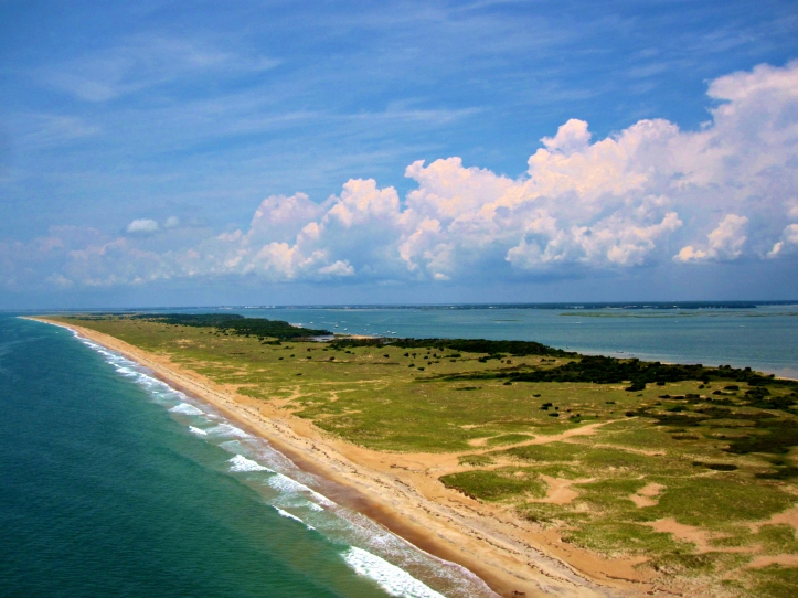 Shackleford Banks off the coast of Beaufort, North Carolina.