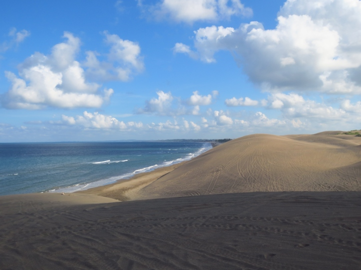 Exploring the sand dunes in Chachalacas near Veracruz, Mexico. Photo by Wake and Wander.