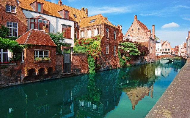 A canal in Bruges, Belgium.