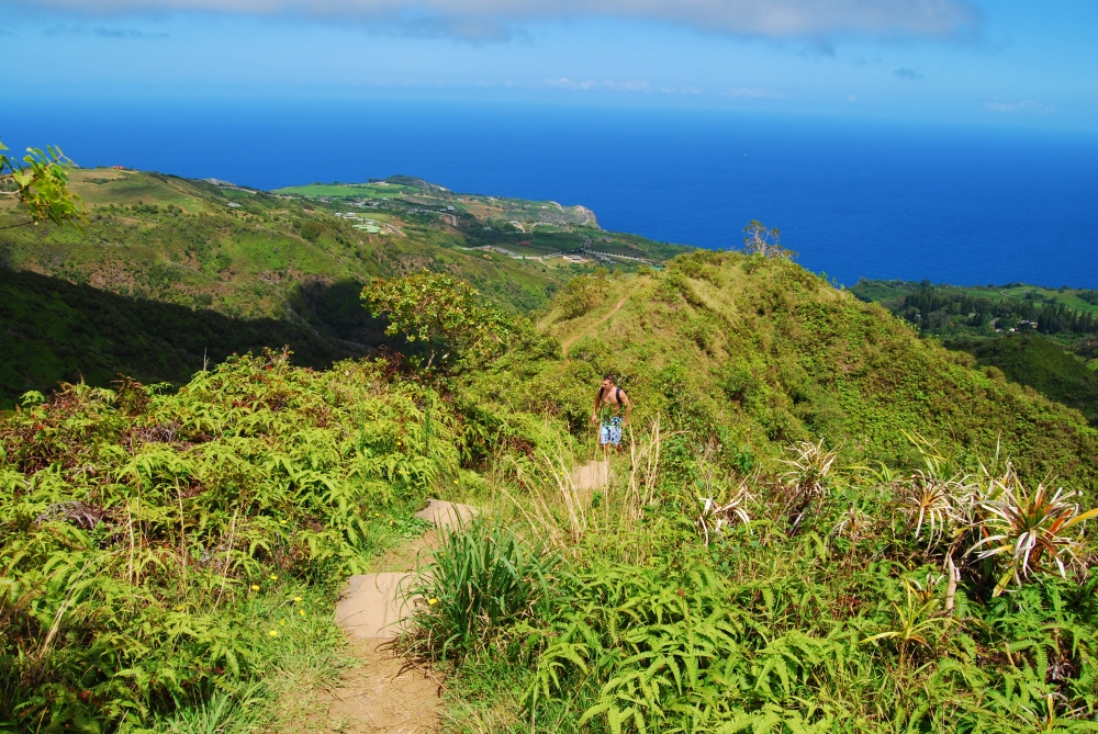Yours truly hiking on Maui back in 2008. Photo by Wake and Wander.