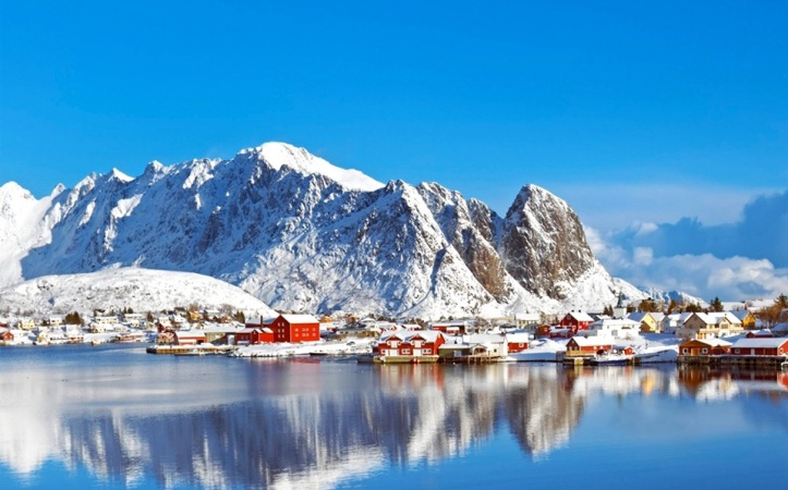 Fishing village in Lofoten, Norway.