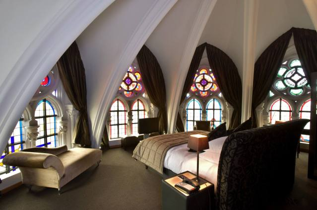 Martin's Patershof Hotel outside of Antwerp, Belgium, is an old converted church. Photo by Martin's Patershof.