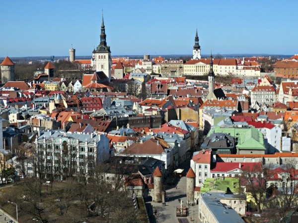 View of Old Town Tallinn from the Sokos Hotel Viru in Estonia. Photo by Wake and Wander.